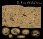 sol 100: Rocks of Gale crater Foto: NASA/JPL-Caltech/Stuart Atkinson